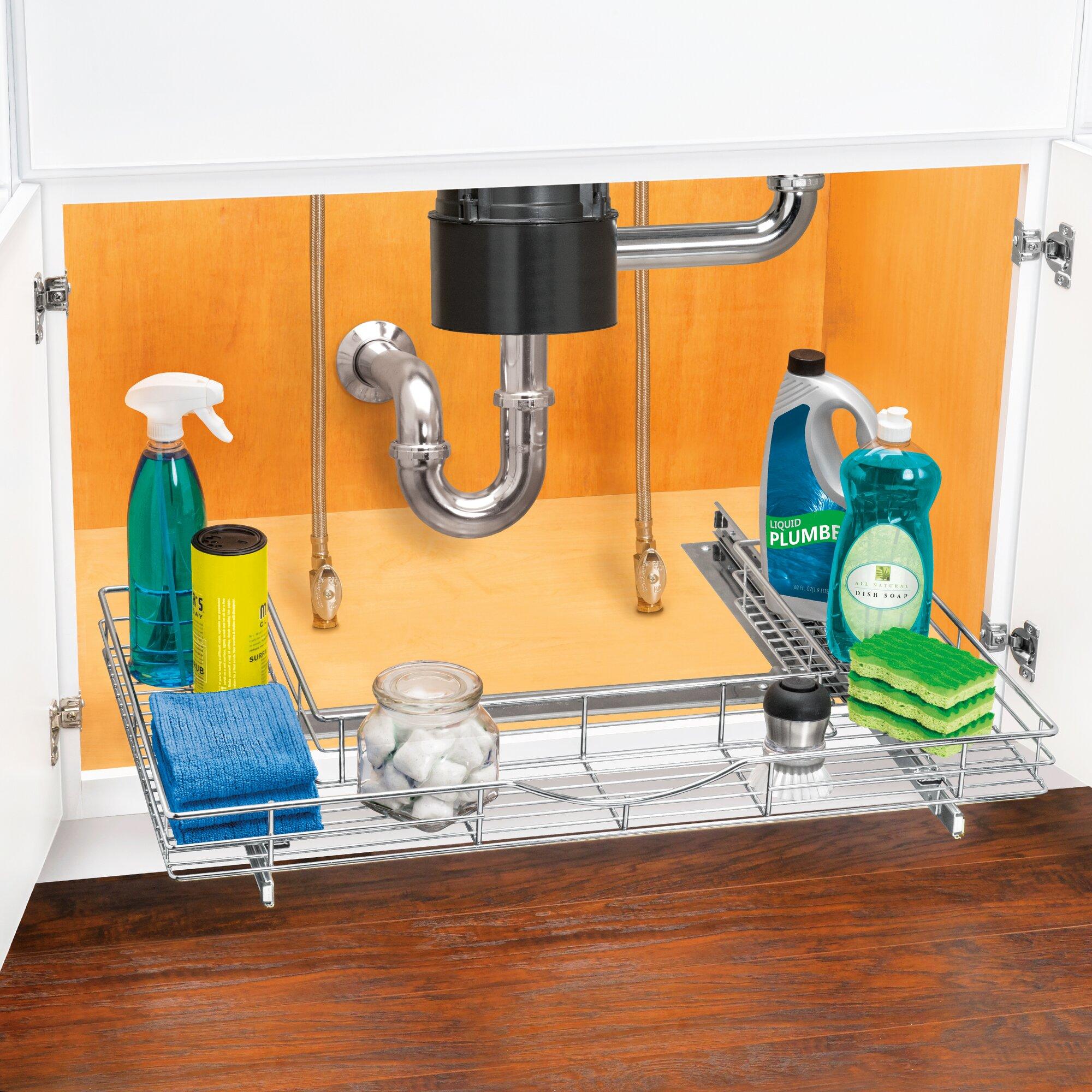 kitchen sink cabinet organizer