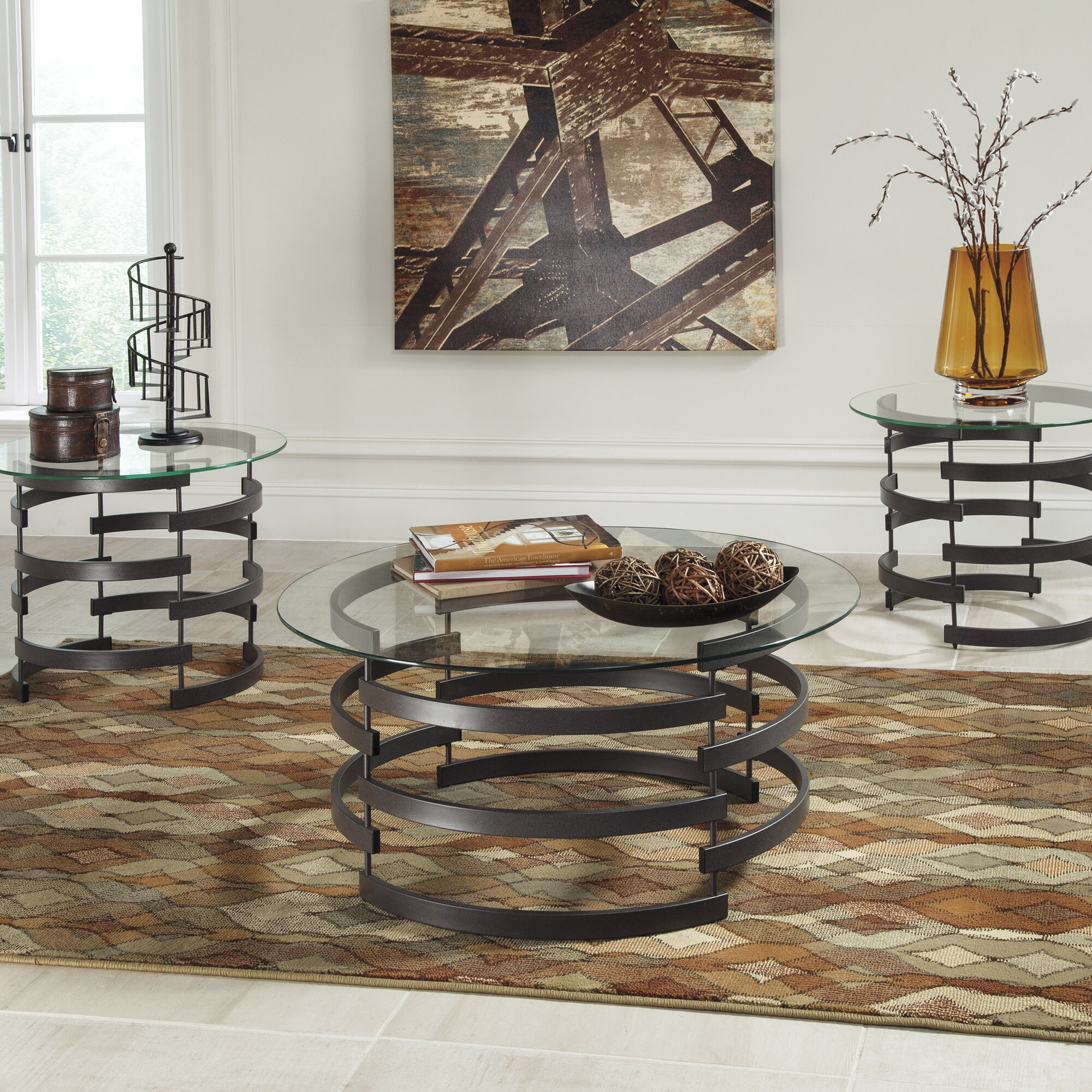 Black coffee table set - Quick View Bailey 3 Piece Coffee Table Set