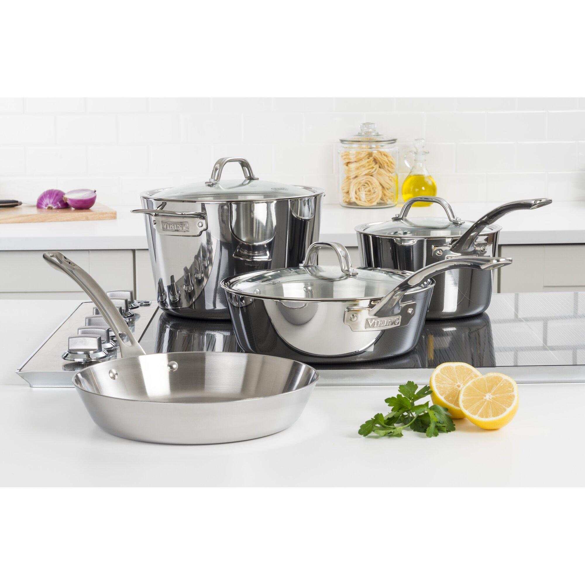 Viking Contemporary 7-Piece Cookware Set & Reviews | Wayfair