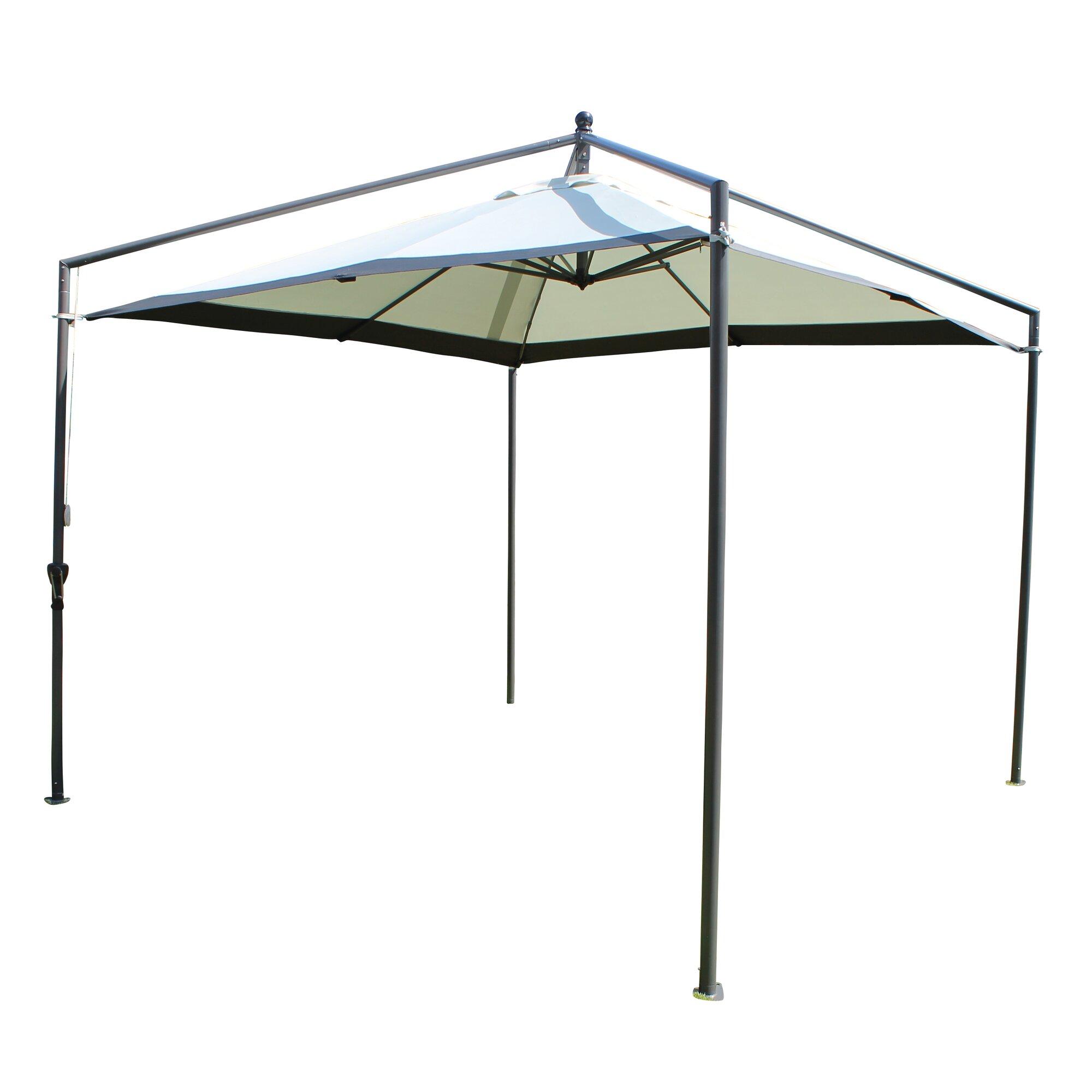all home 3 m x 3 m pavillon aus metall. Black Bedroom Furniture Sets. Home Design Ideas