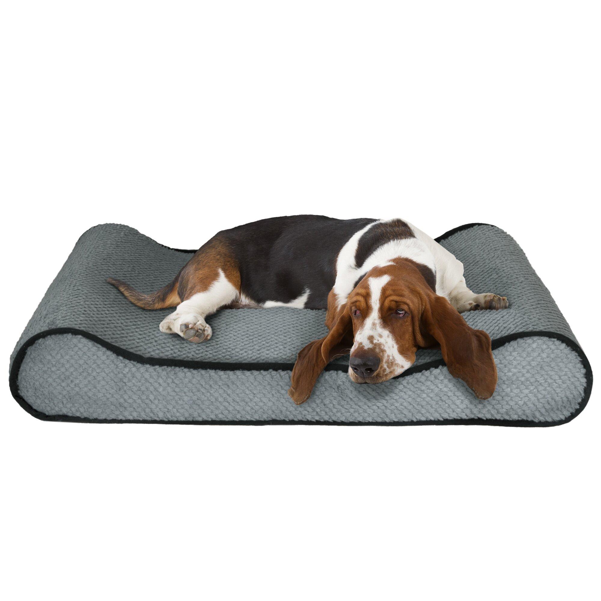 petmaker orthopedic memory foam bolster dog bed with bolsters on both ends reviews. Black Bedroom Furniture Sets. Home Design Ideas