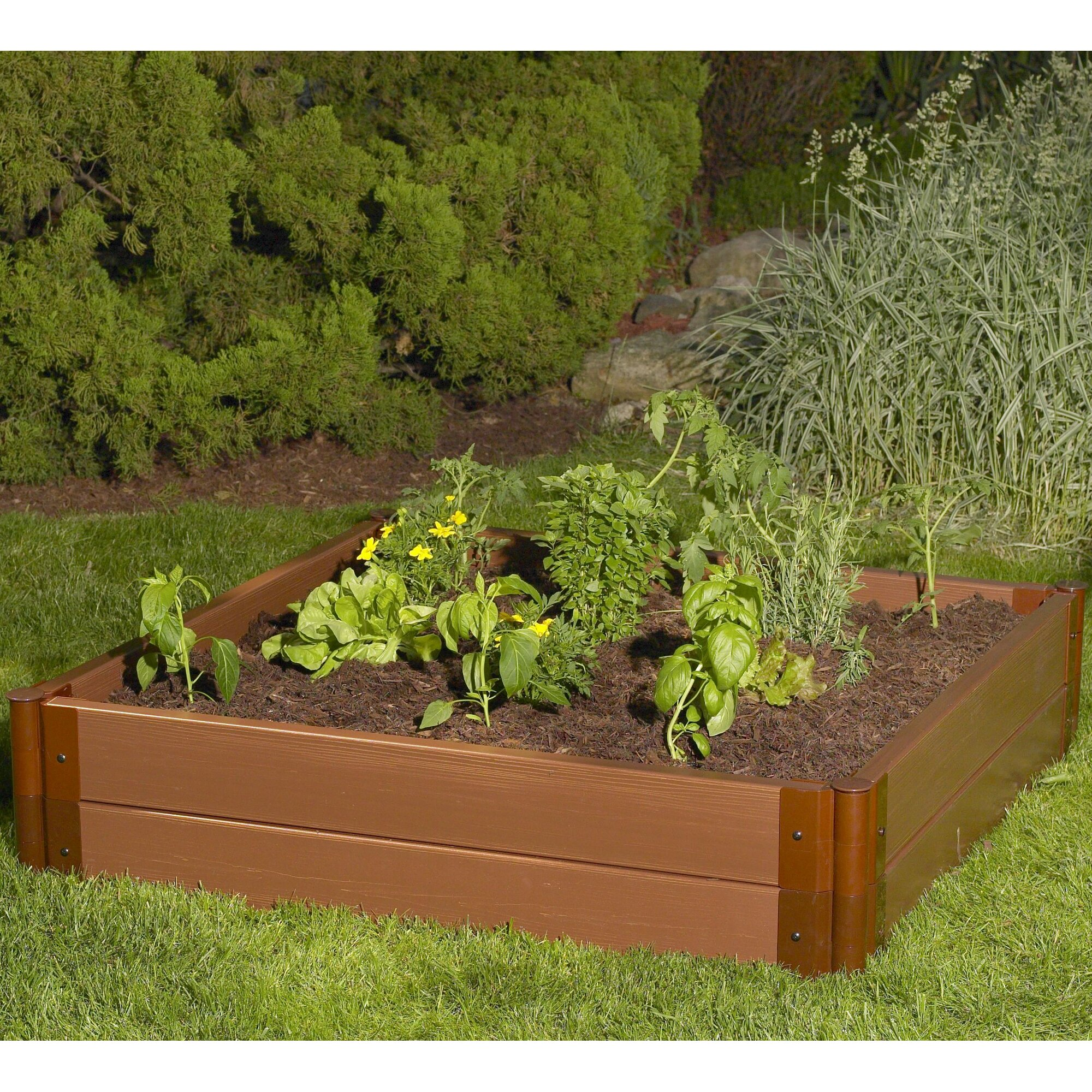 Frame it all 12 h x 48 w x 48 l plastic raised garden for 12 x 48 window
