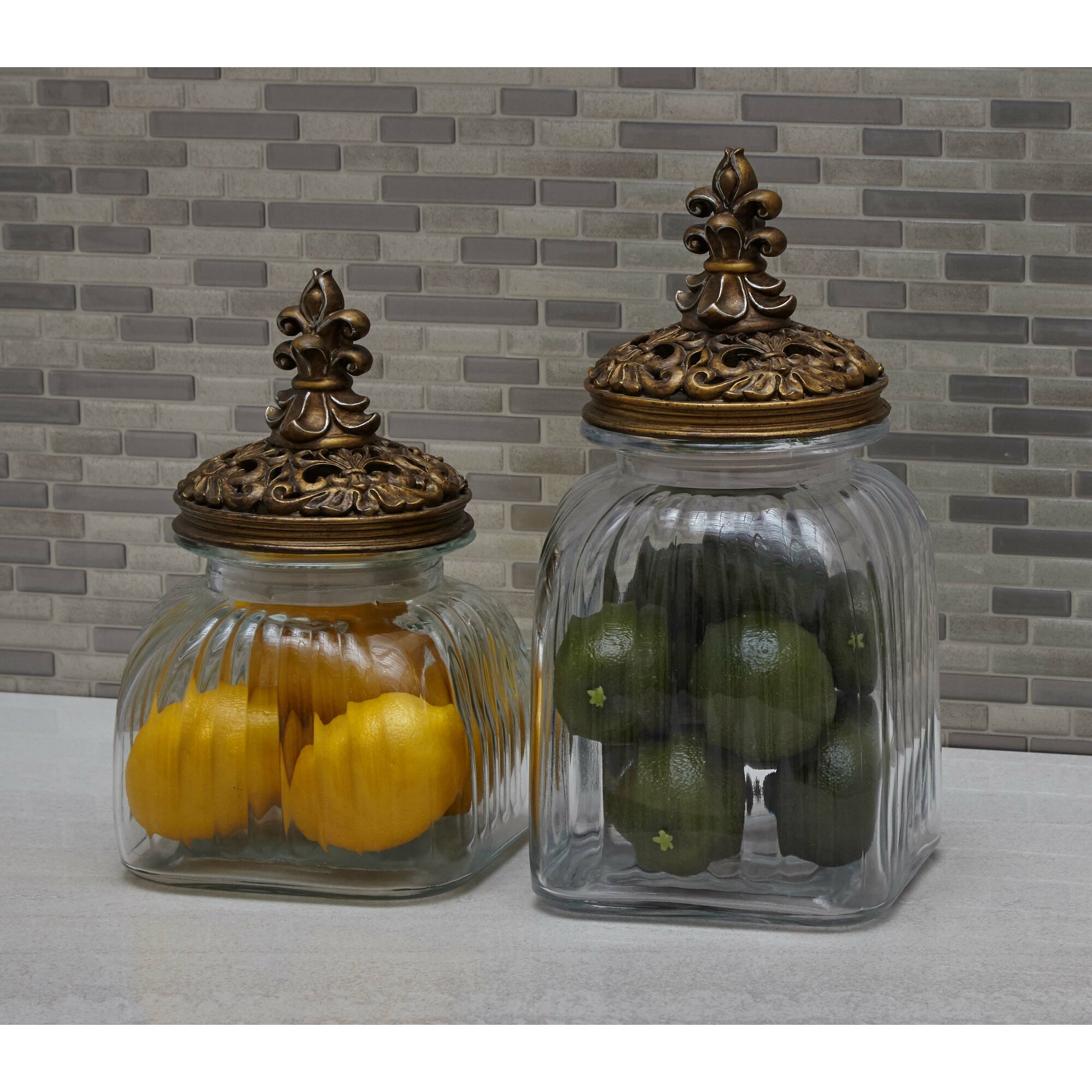 cole amp grey glass polystone 3 piece kitchen canister set decorative kitchen canister sets photos