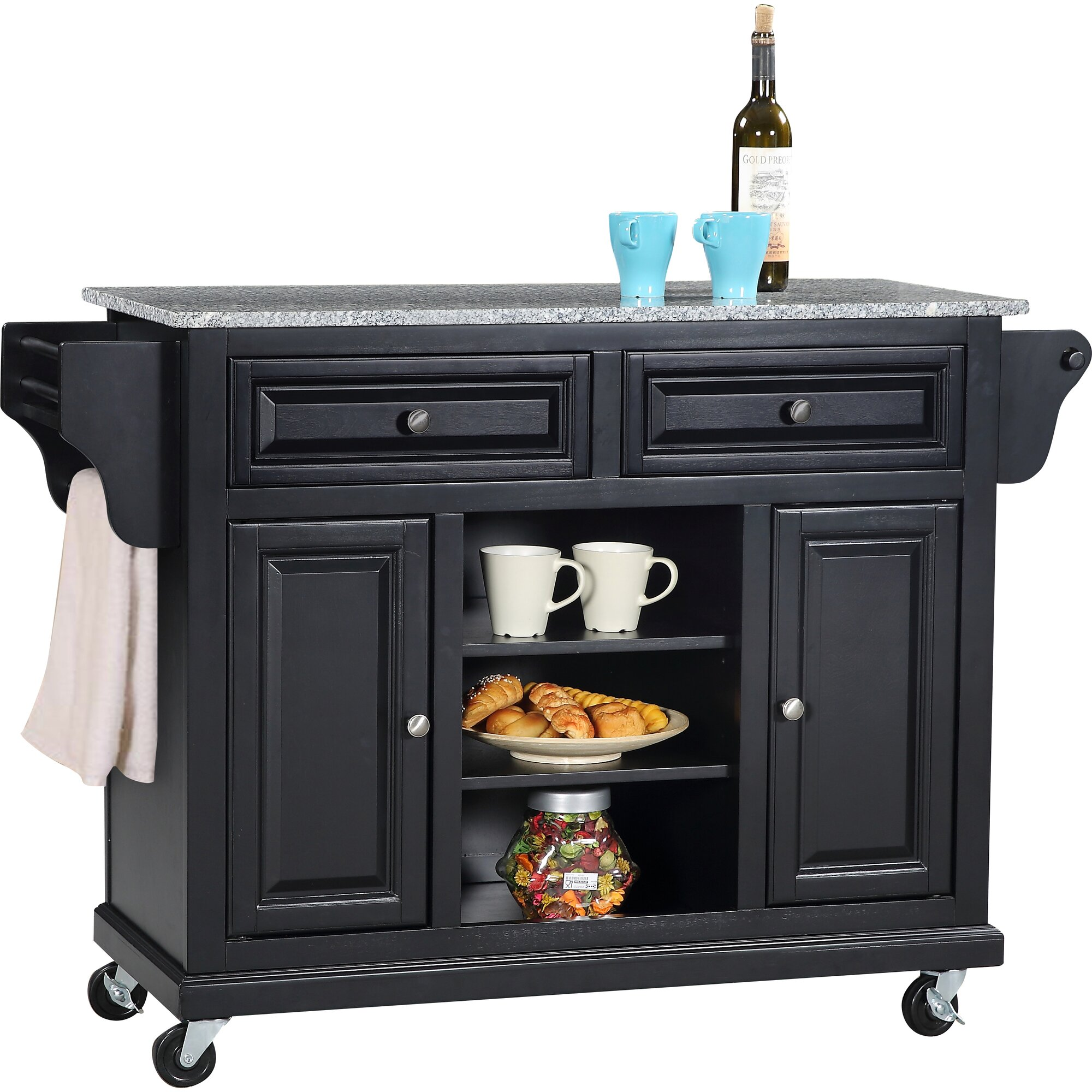 Granite Top Kitchen Island Cart Wildon Home 174 Kitchen Island With Granite Top Amp Reviews