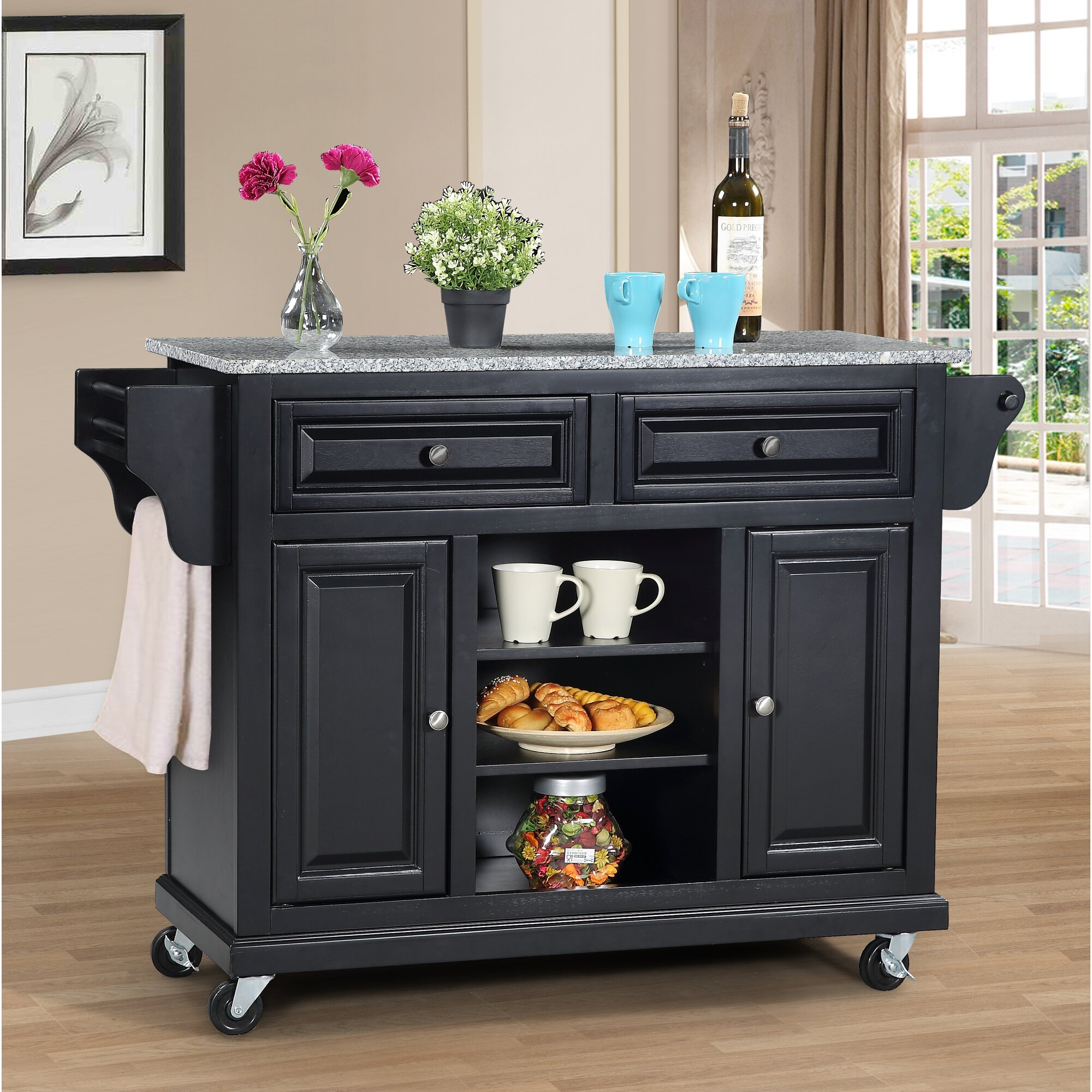 Wildon Home Kitchen Island With Granite Top Reviews