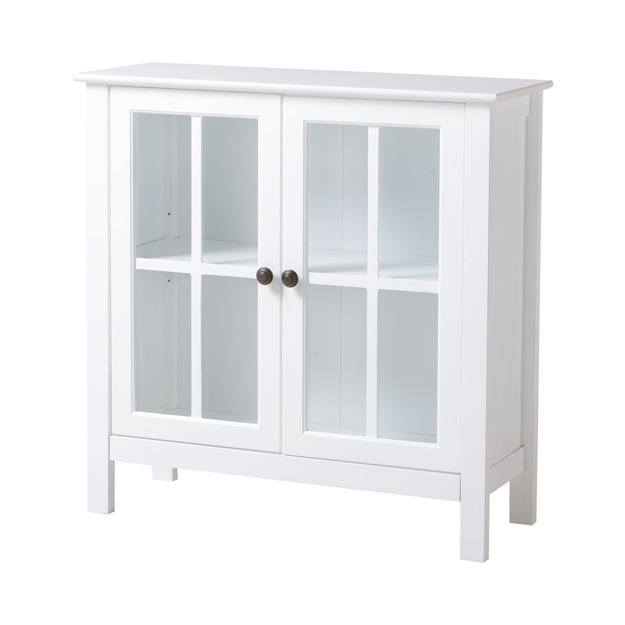 Accent cabinet with glass doors - Glass 2 Door Accent Cabinet