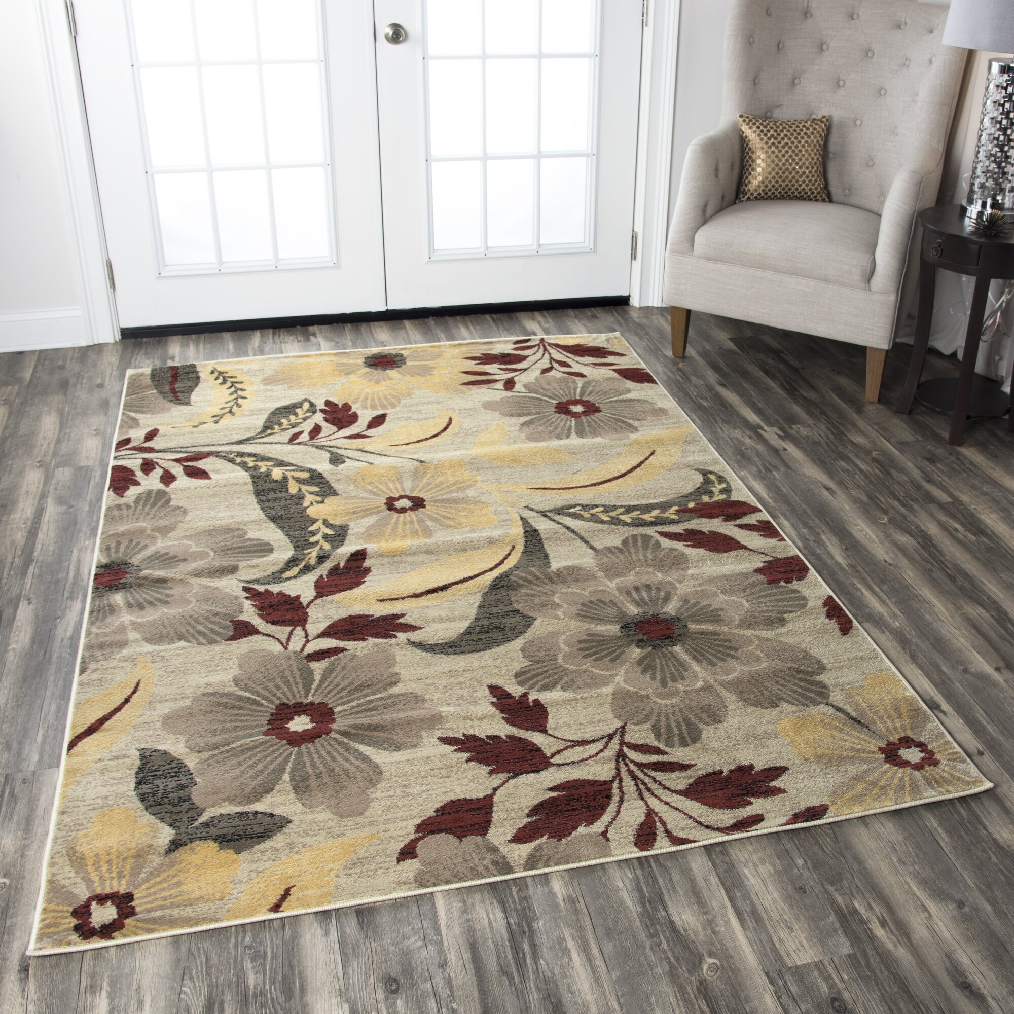 Threadbind Culver Ivory Floral Area Rug Amp Reviews Wayfair