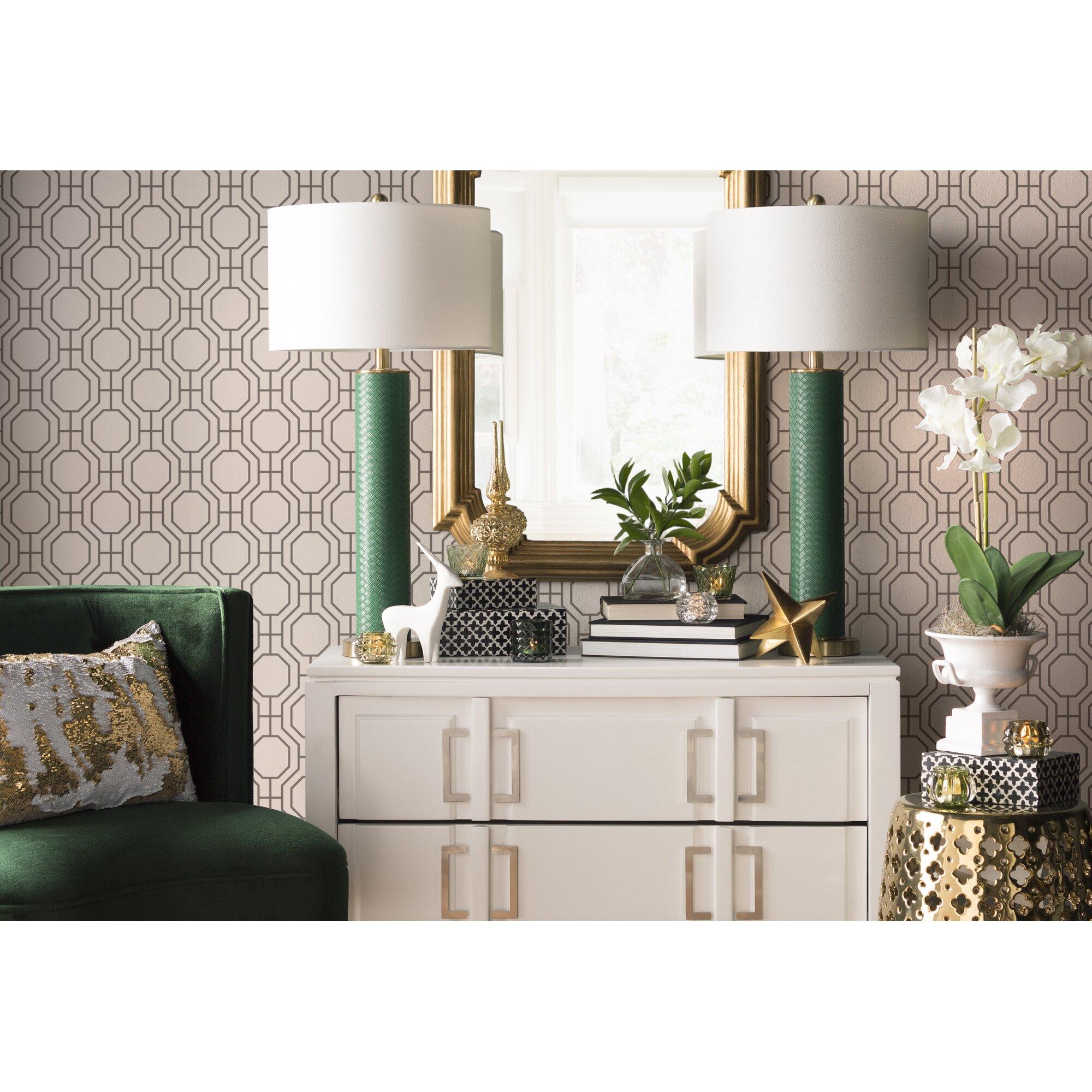 Modern interior wallpaper swatch - Linda Circuit 33 X 20 5 Modern Ironwork Wallpaper Roll