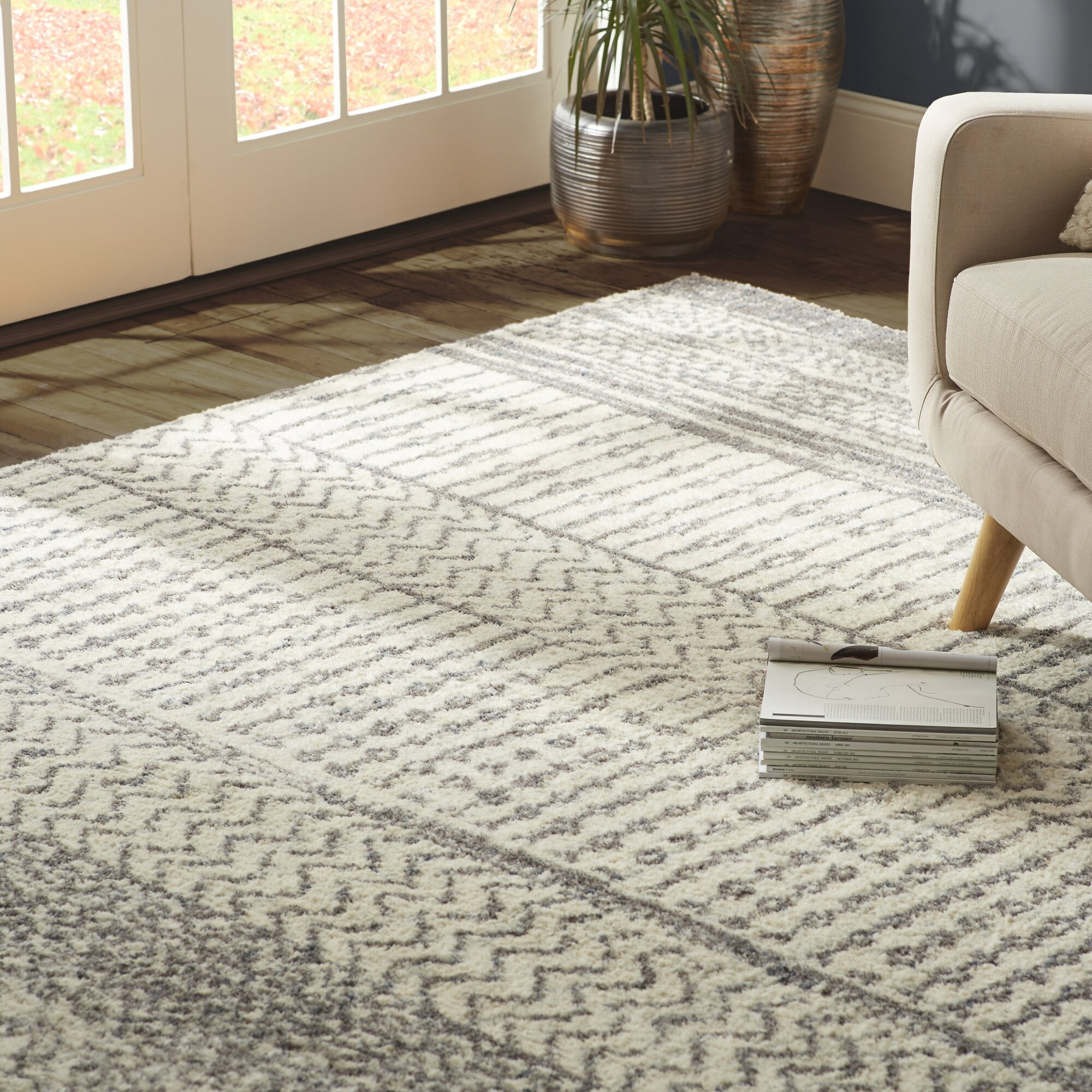 Mistana Danny Grey Ivory Area Rug Amp Reviews Wayfair Ca