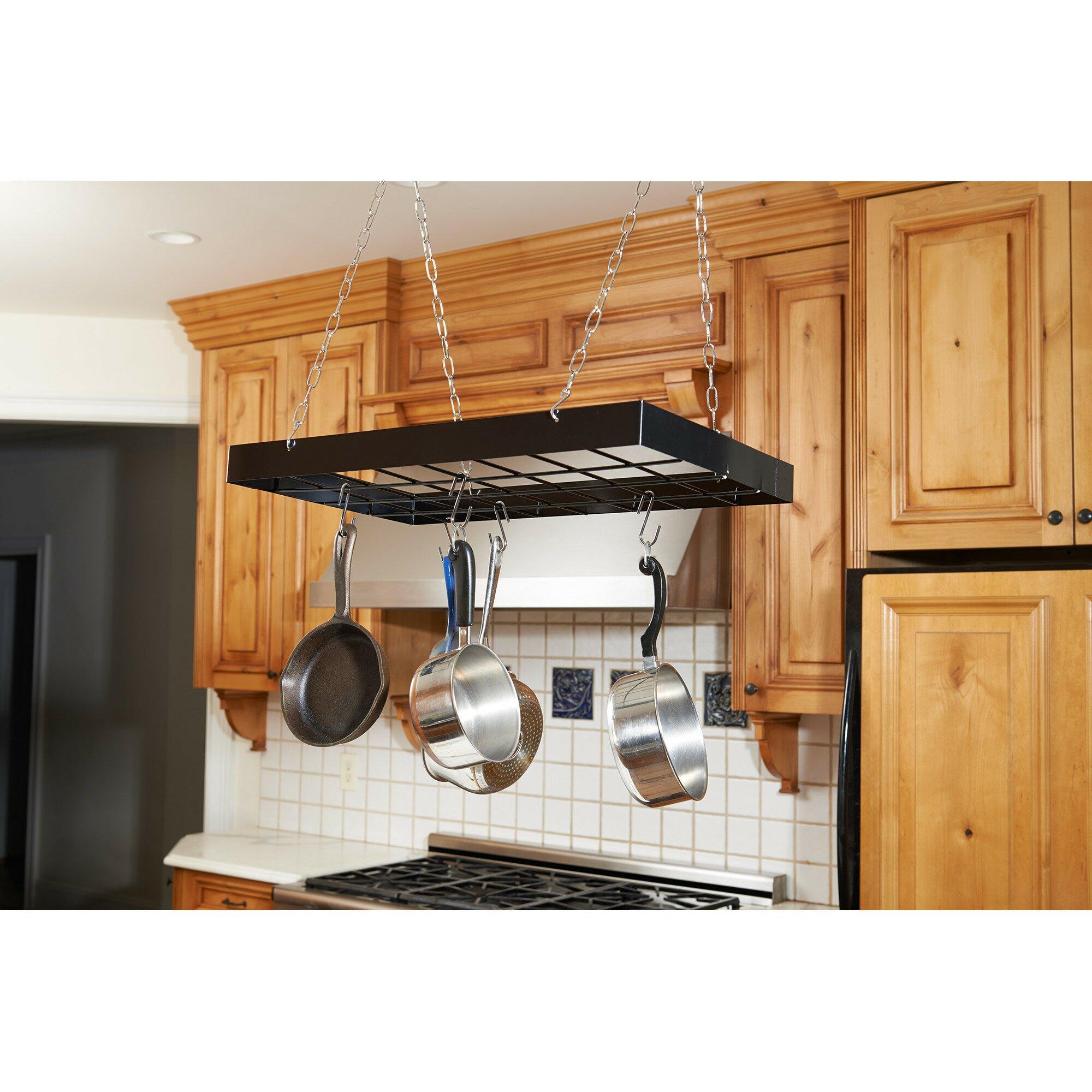 Pot and pan hanger for kitchen - Rectangular Hanging Pot Rack
