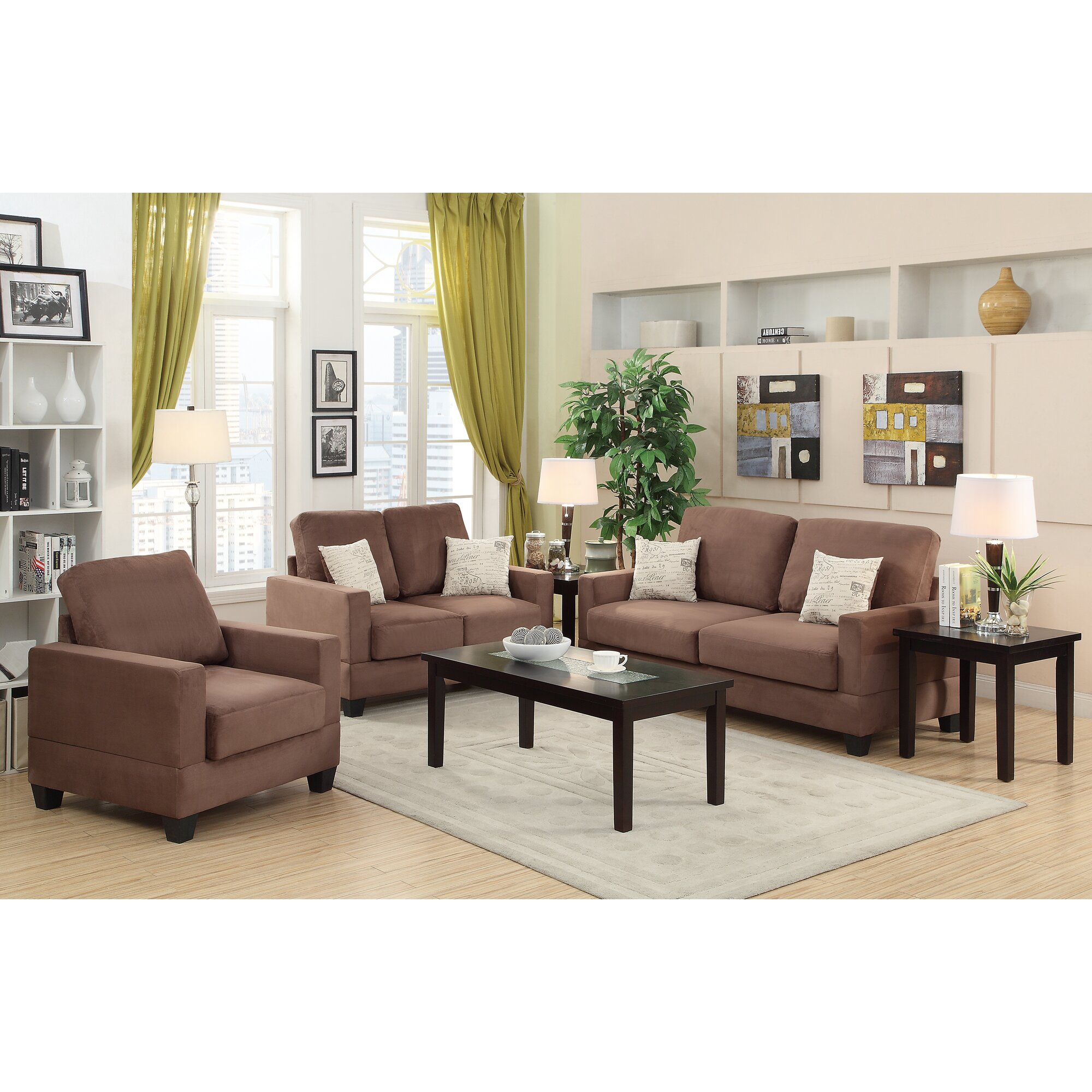Andover Mills Vanderbilt 3 Piece Sofa And Loveseat With