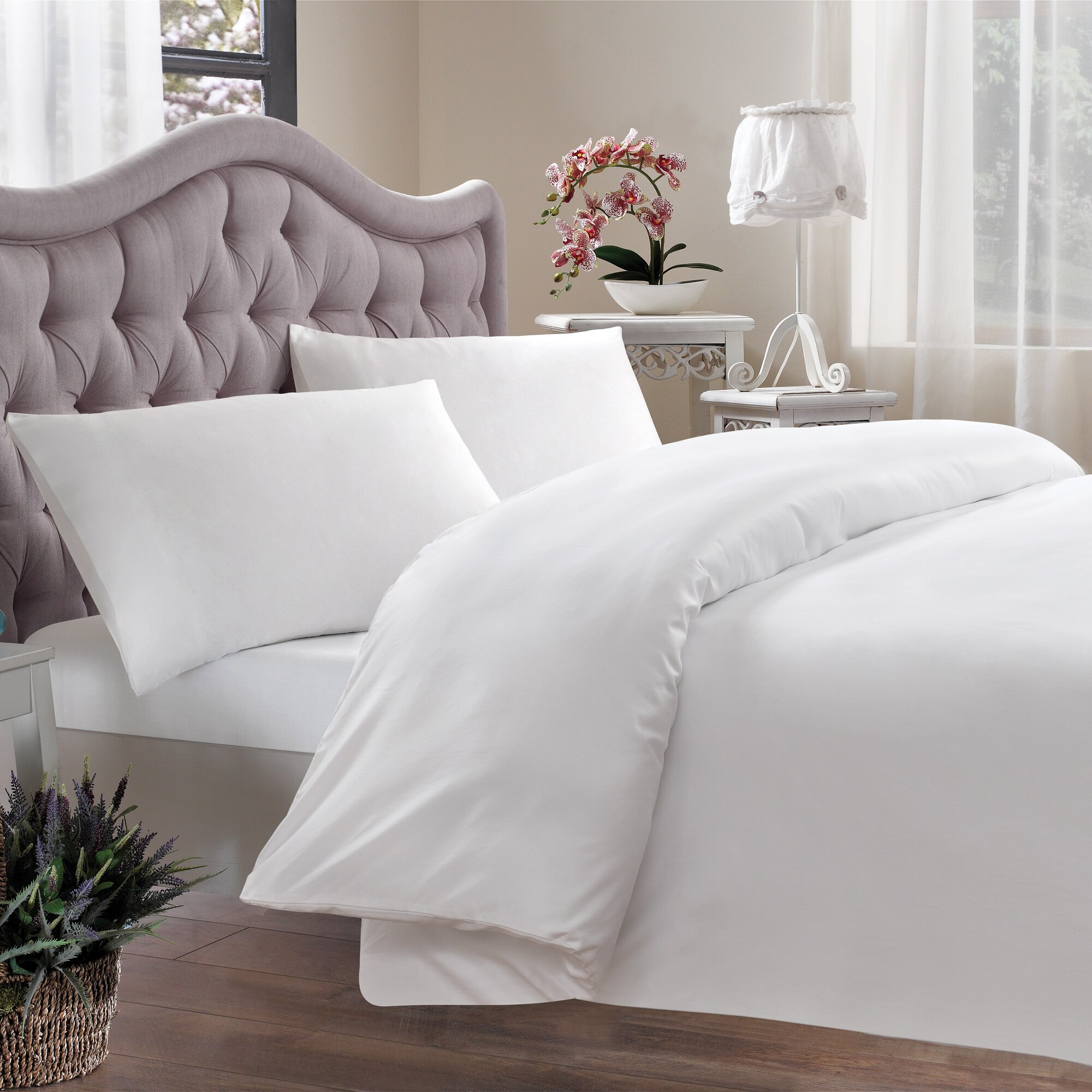 brielle egyptian quality cotton sateen 400 thread count duvet cover reviews. Black Bedroom Furniture Sets. Home Design Ideas