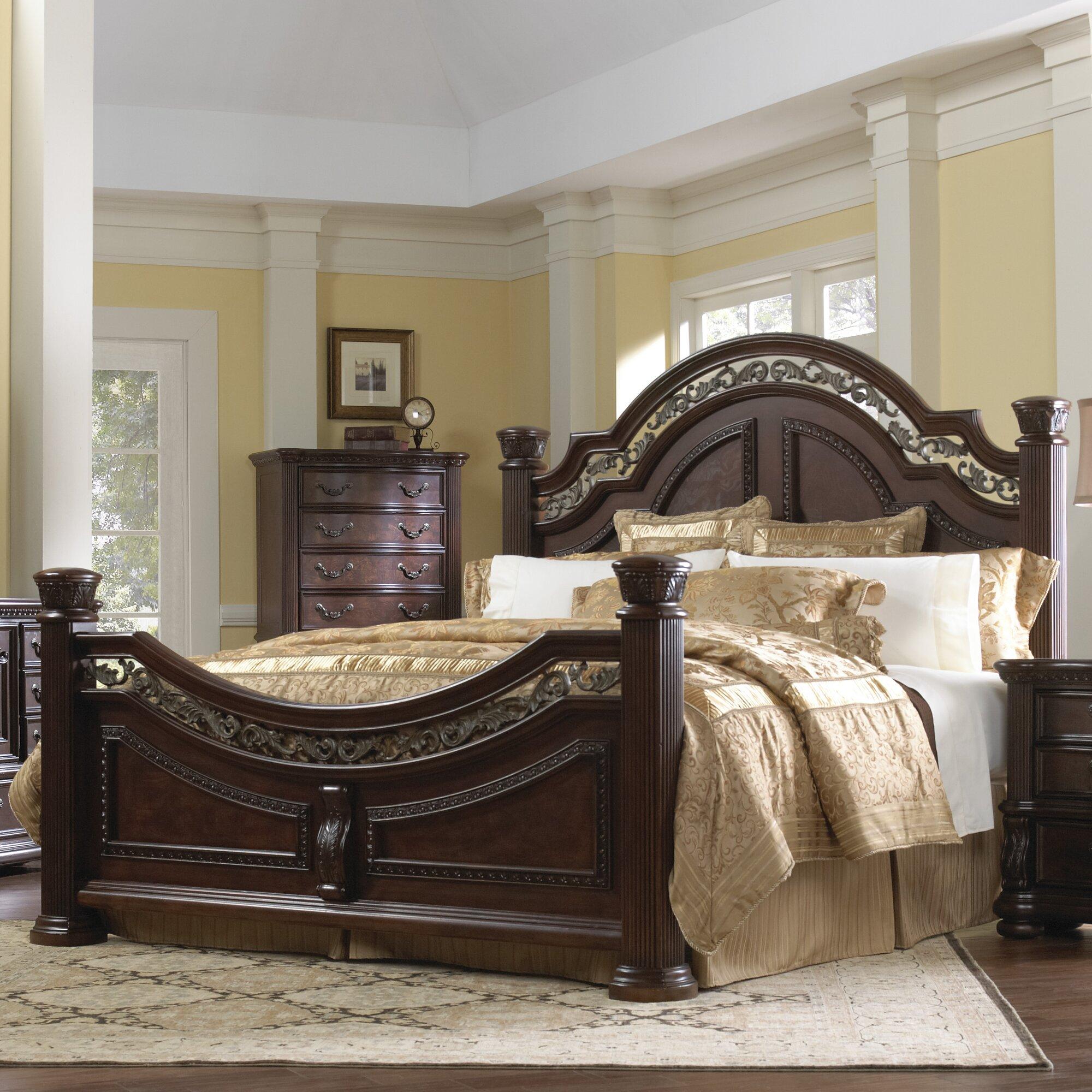 Samuel Lawrence San Marino Sleigh Customizable Bedroom Set ...