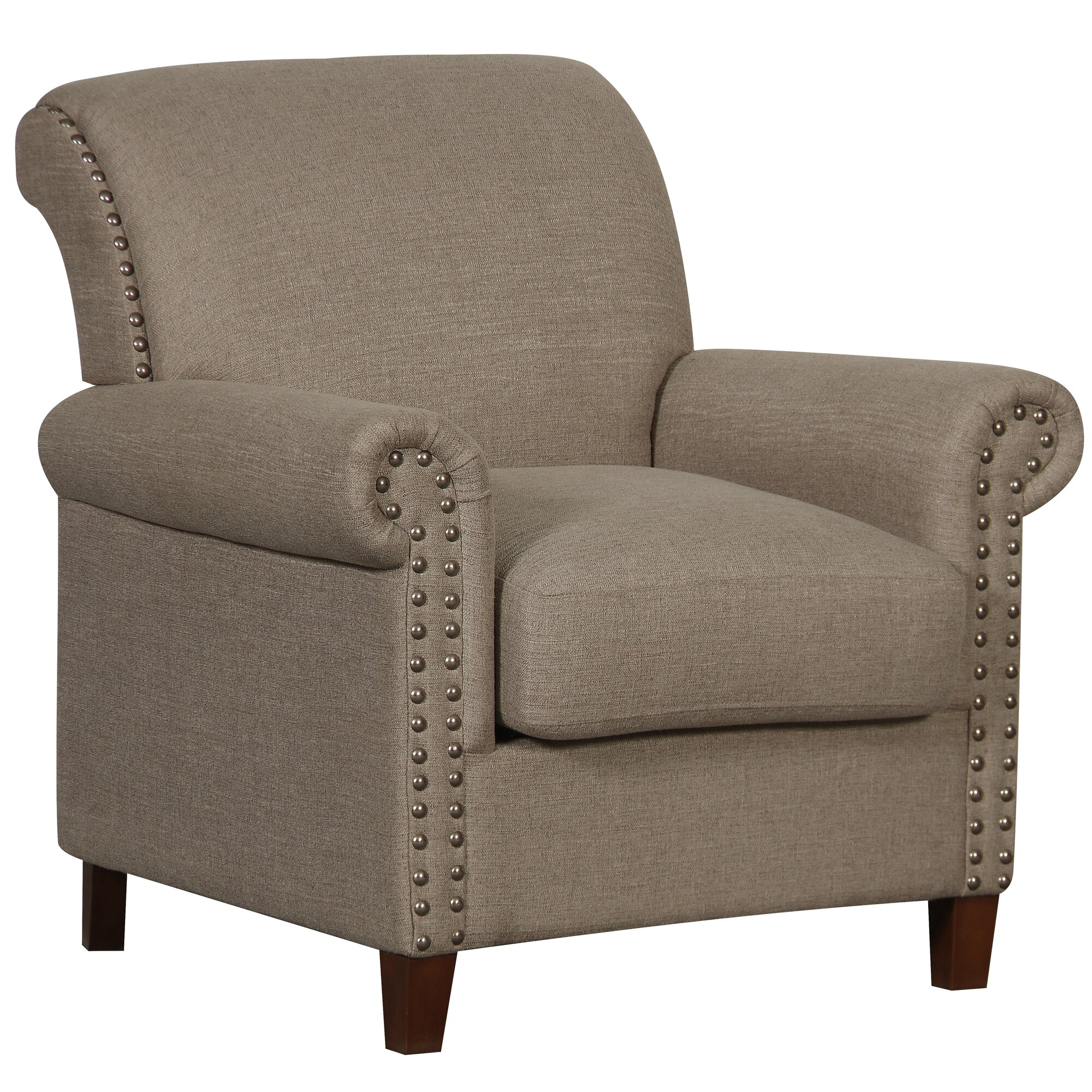 Traditional armchair - Grayville Traditional Roll Armchair