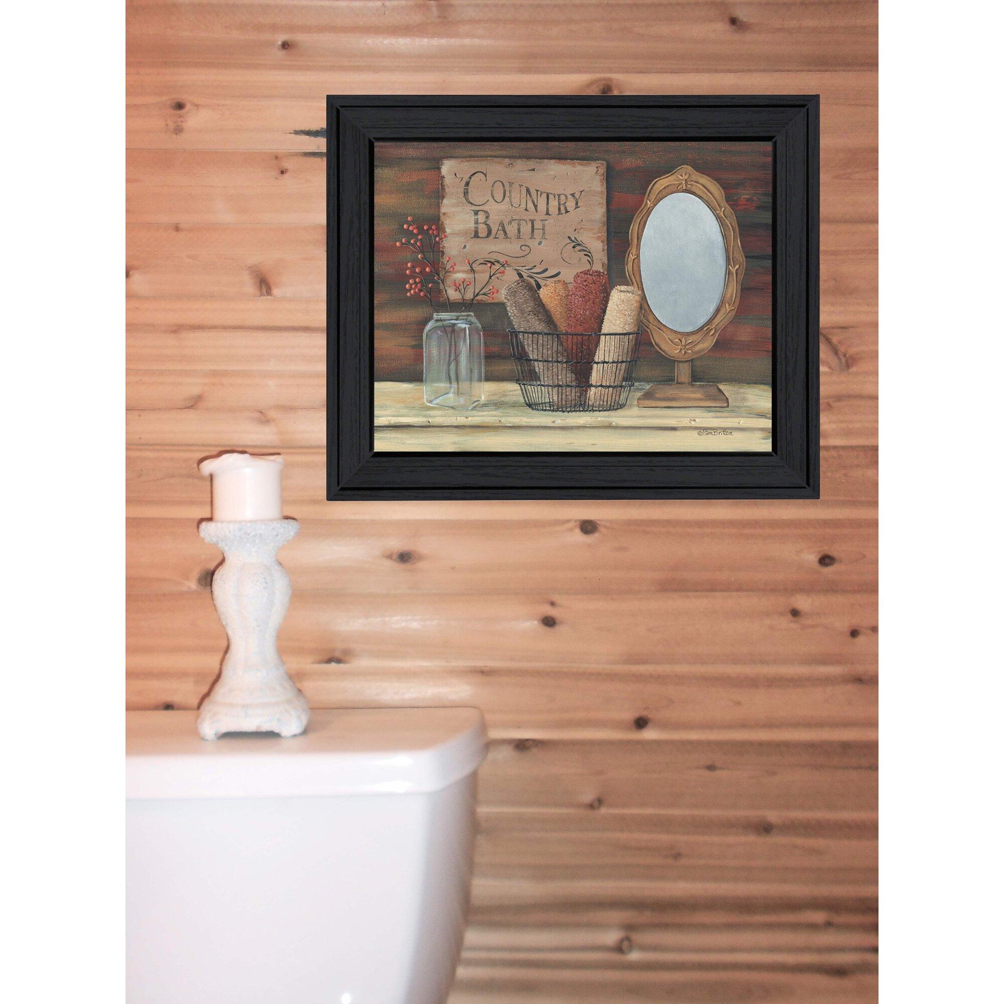 Trendy decor 4u country bath by pam britton framed for Trendy bathroom decor