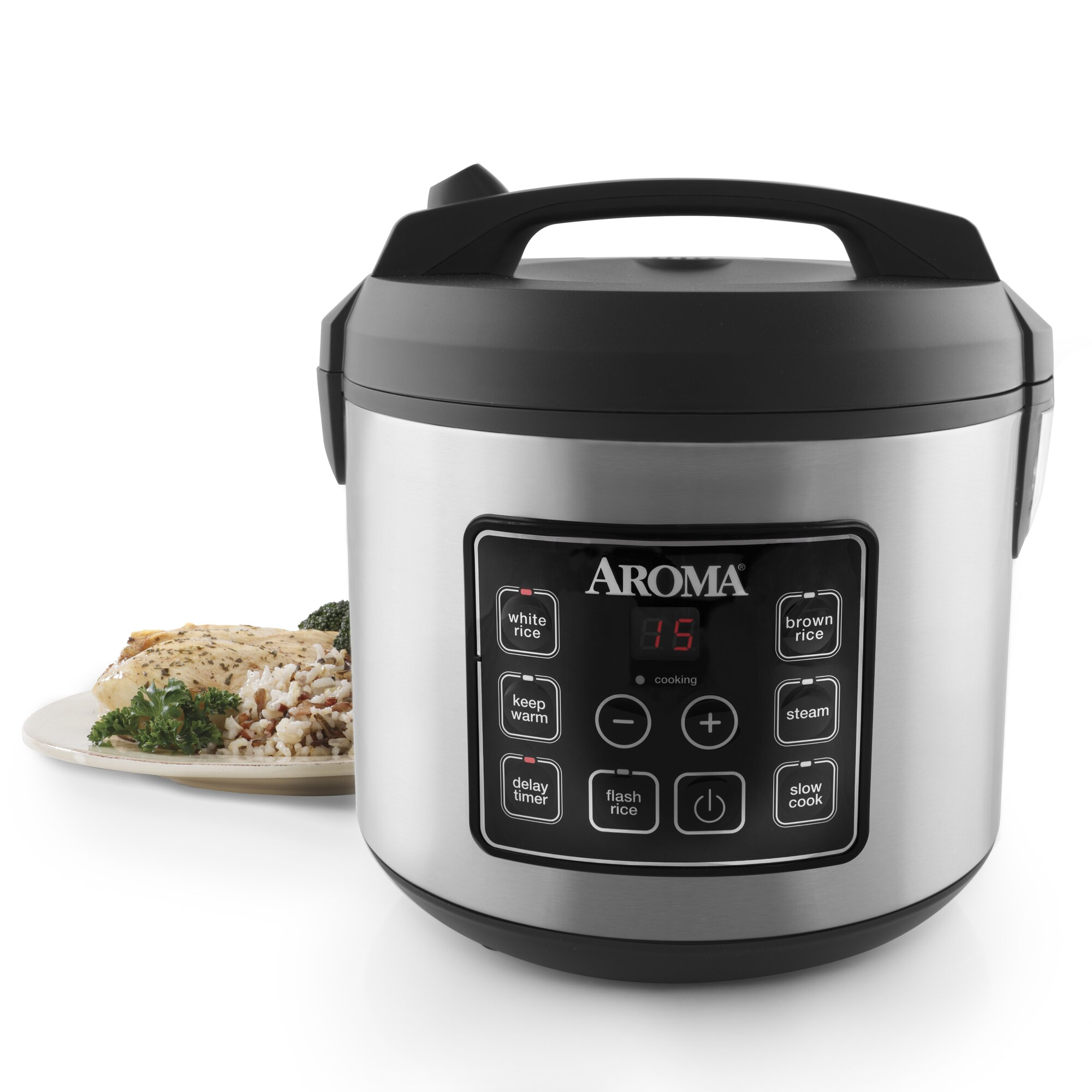 20cup Stainless Steel Digital Slow Cooker, Food Steamer And Rice Cooker Crockpot  Rice Pilaf Recipes How To Cook Brown