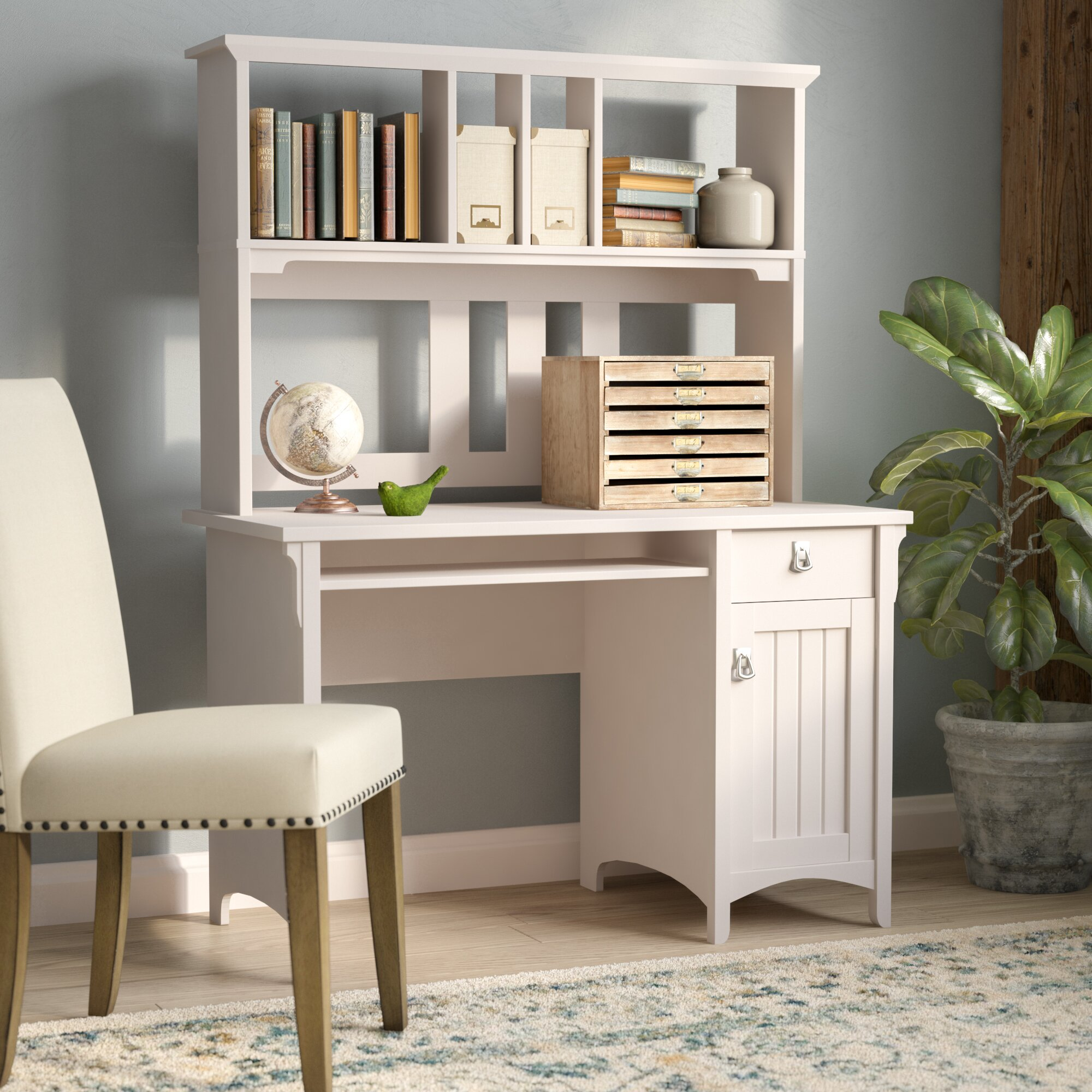 August Grove Salinas Computer Desk With Hutch & Reviews