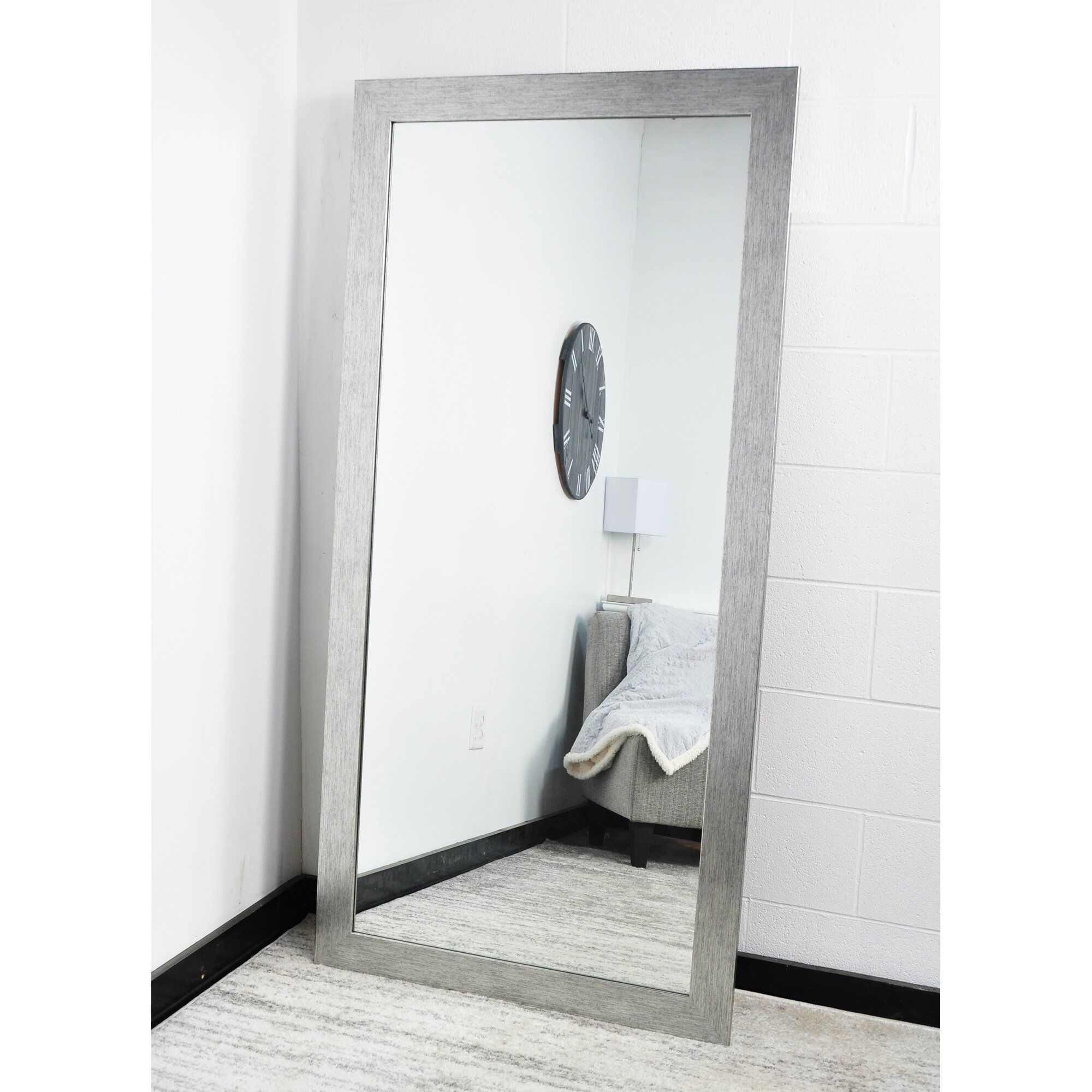 full length bathroom mirrors wade logan rectangle length floor mirror 18448