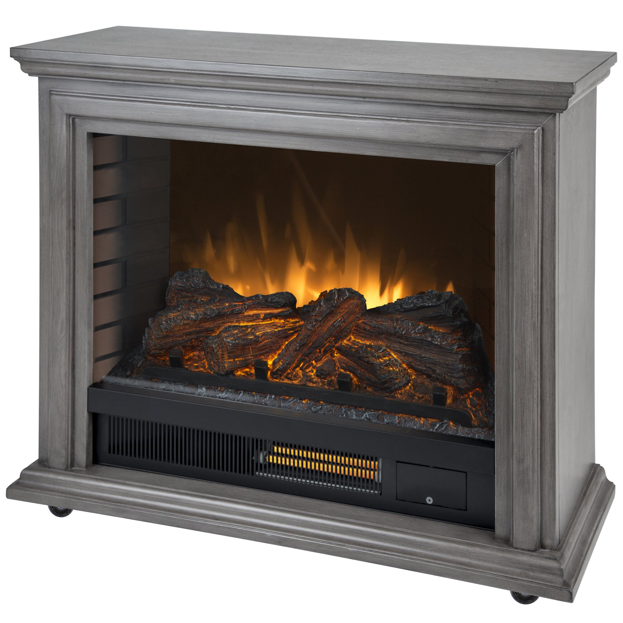 Pleasant Hearth Sheridan Mobile Infrared Tv Stand With Electric Fireplace