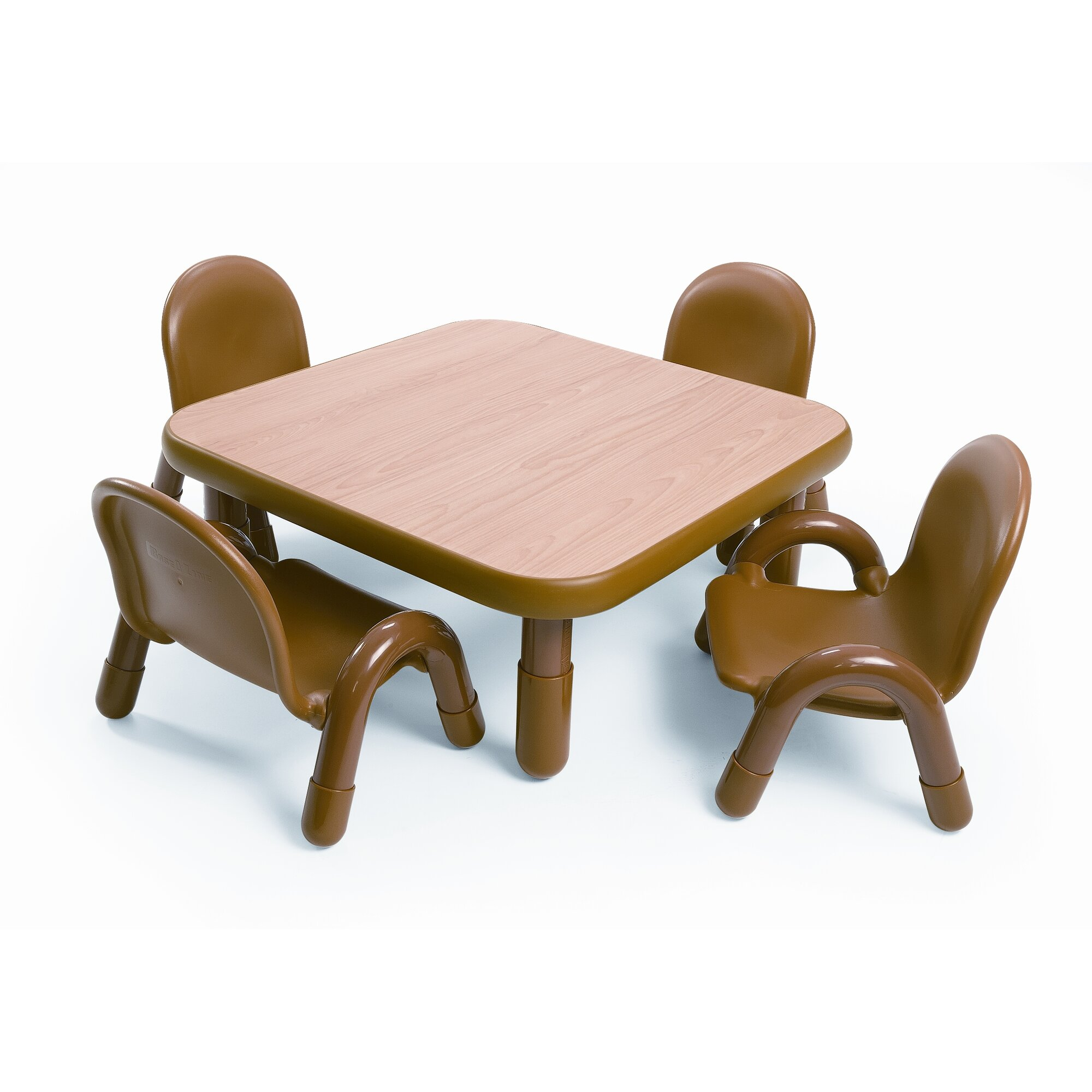 Toddler table and chair - Square Baseline Toddler Table And Chair Set In Natural