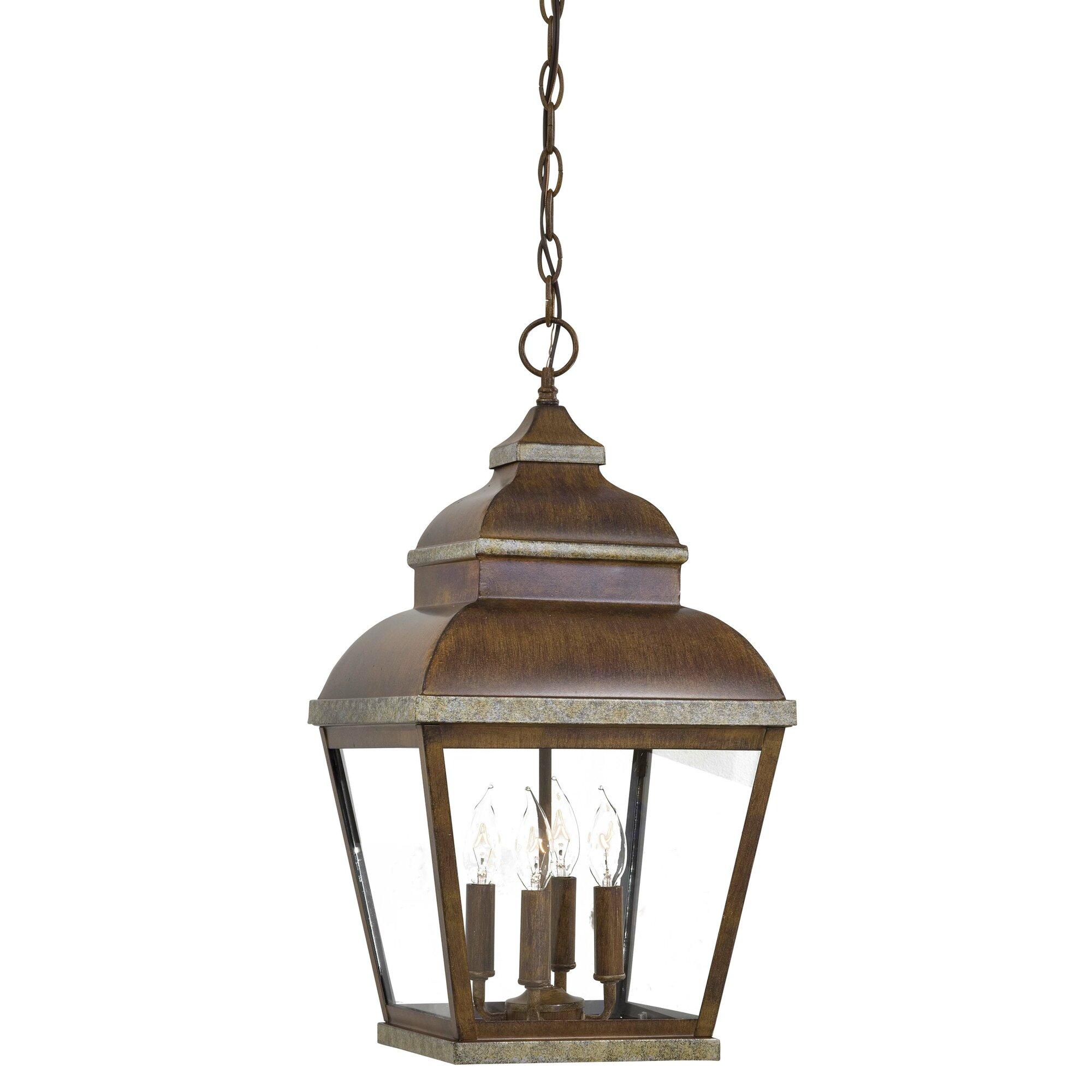 Outdoor hanging lamp - Mossoro 4 Light Outdoor Hanging Lantern
