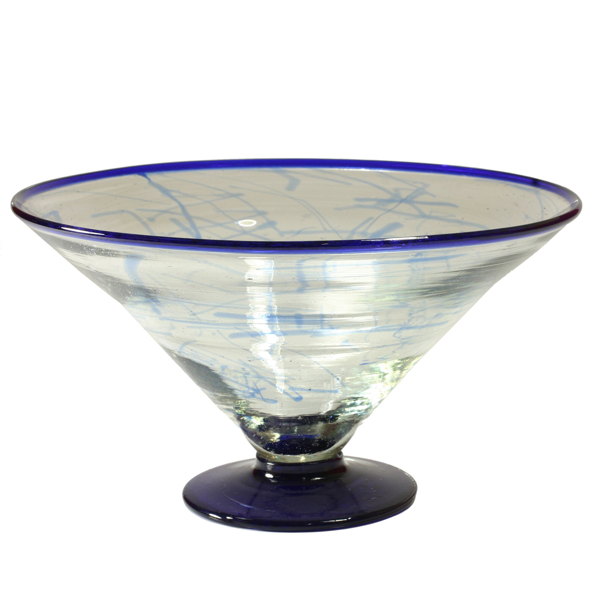 cantel blown glass artisans decorative glass centerpiece serving bowl - Decorative Glass Bowls