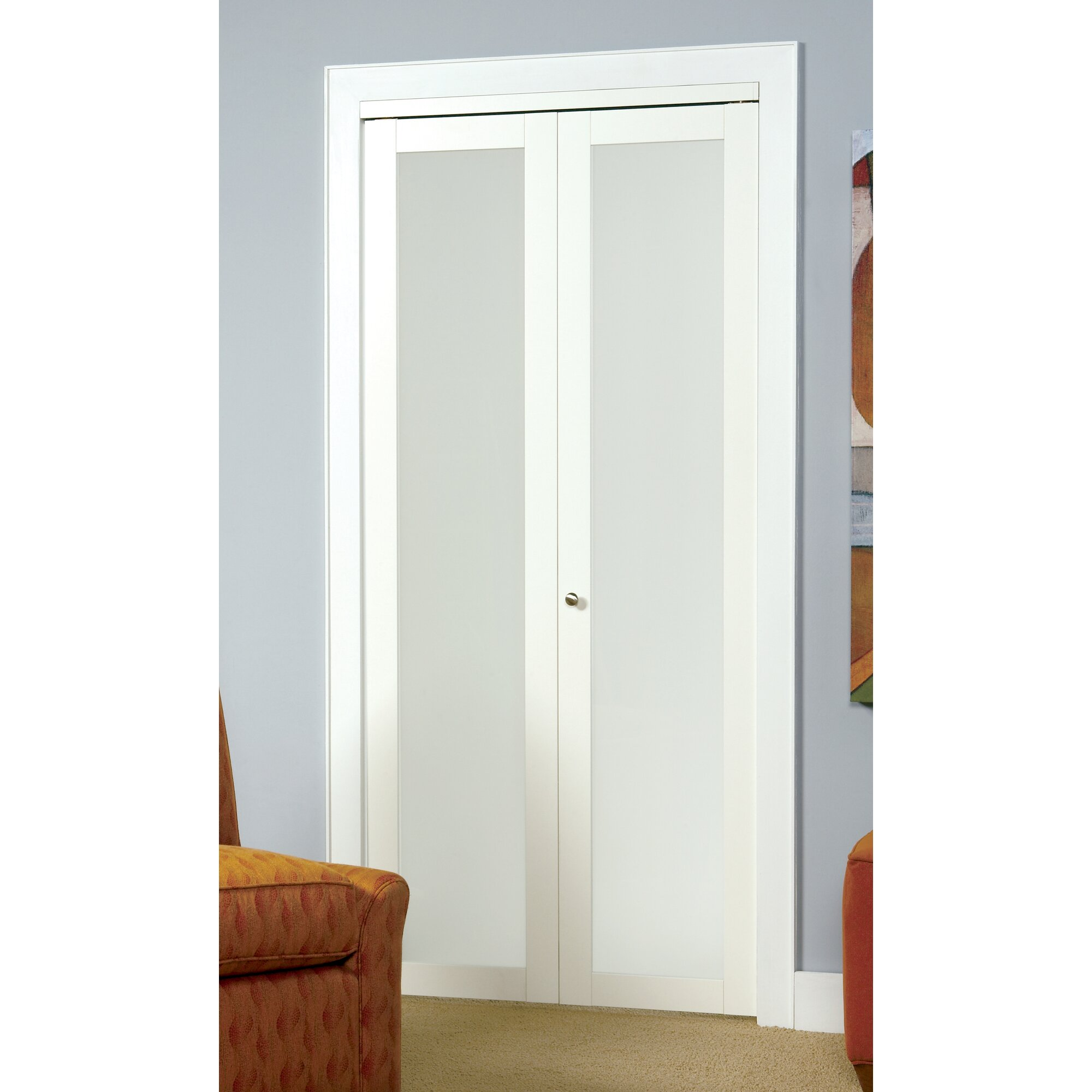 baldarassario wood 2 panel painted bi fold interior door - Erias Home Designs