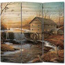 55 x 55 The Old Mill 3 Panel Room Divider by WGI-GALLERY