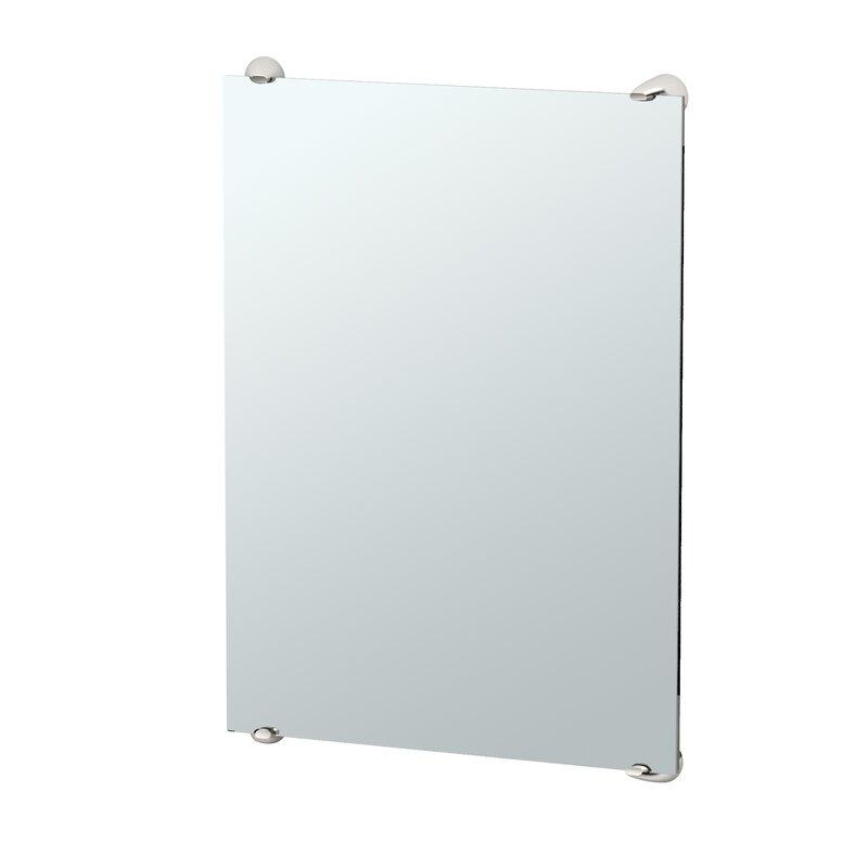 Bathroom Mirrors Wayfair Gatco Brie Minimalist Frameless Fixed Mounted Rectangle