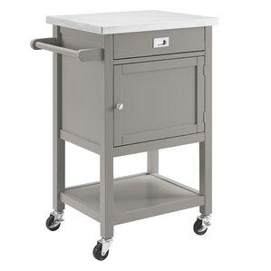eira kitchen cart with stainless steel top. Interior Design Ideas. Home Design Ideas