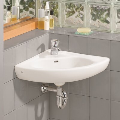 15 75 Corner Bathroom Sink With Overflow