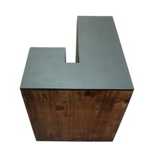 Letter-shaped (J) Wooden Accent Stool by Jeco Inc.
