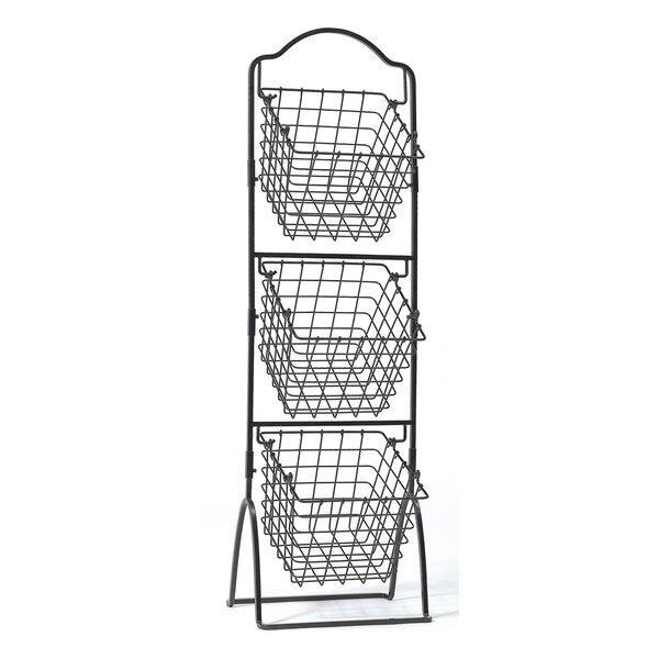 R B Wire 2250 Metal Medical Storage Basket Wall Mounted Unoclean