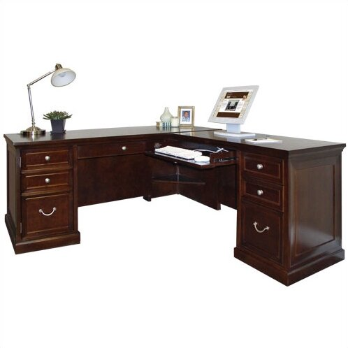 Kathy Ireland Home By Martin Furniture Fulton Double Pedestal L Shape Executive Desk Reviews