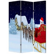 72 x 48 Christmas 3 Panel Room Divider by Screen Gems