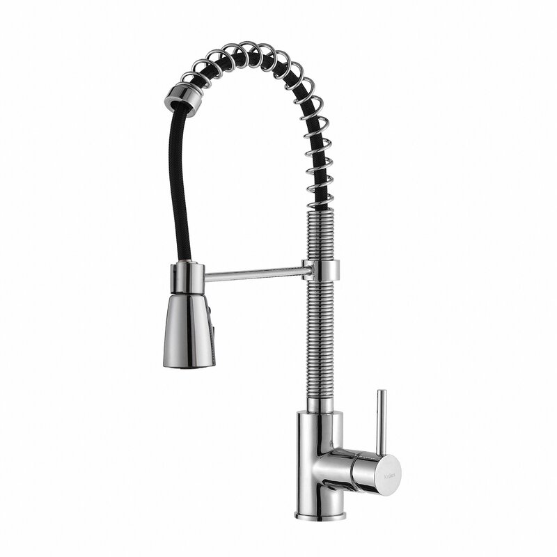kraus single handle pull down kitchen faucet with 3 function