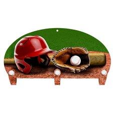 Baseball 3 Hook Coat Rack by Next Innovations