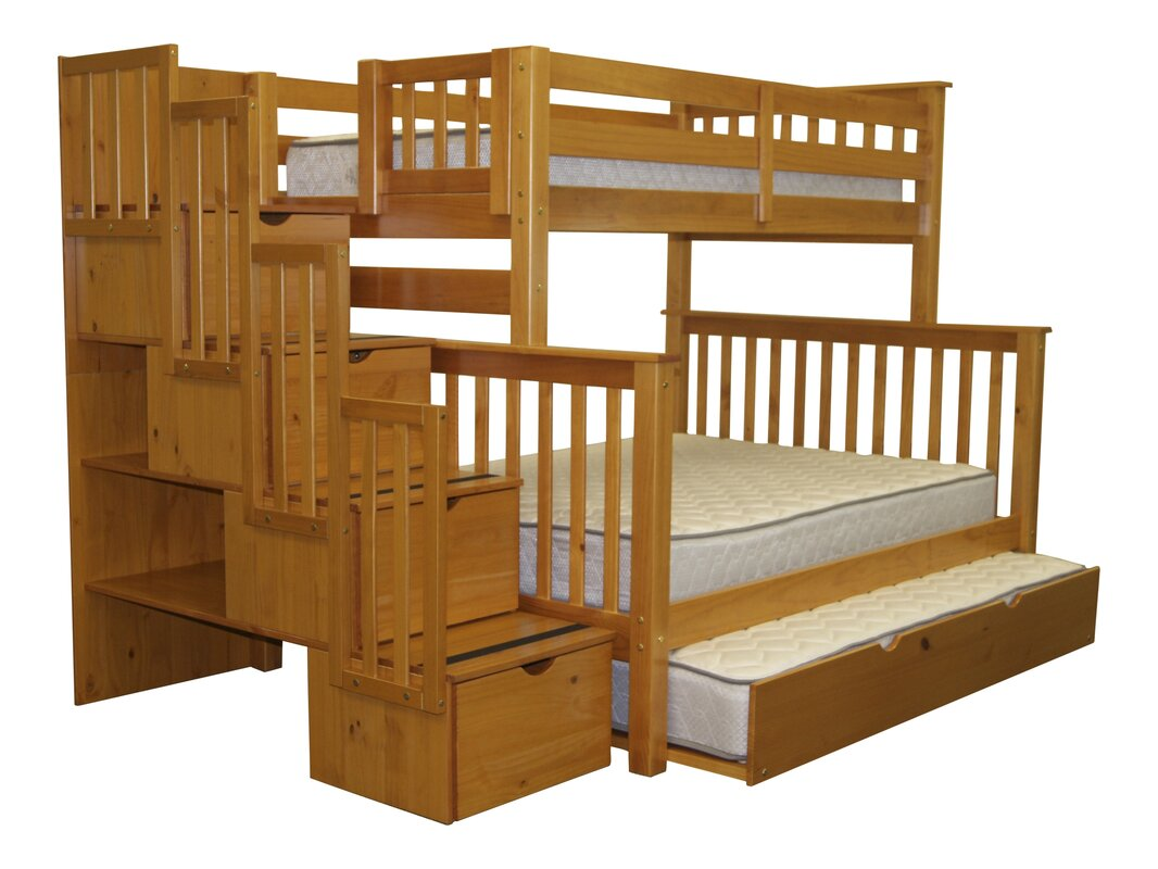 Twin over full bunk bed with stairs - Default_name