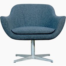 Green Camira Wool Lounge Chair by B&T Design