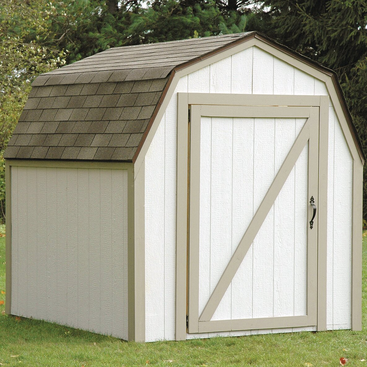 2x4 Basics Barn Roof 7 Ft W X 8 Ft D Storage Shed Kit