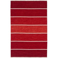 Calvin Handmade Red Striped Area Rug