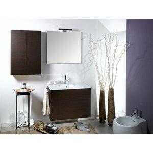 Time 32 Single Wall Mounted Bathroom Vanity Set with Mirror Iotti Nameeks