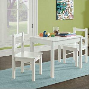 suri kids 3 piece rectangle table and chair set. beautiful ideas. Home Design Ideas