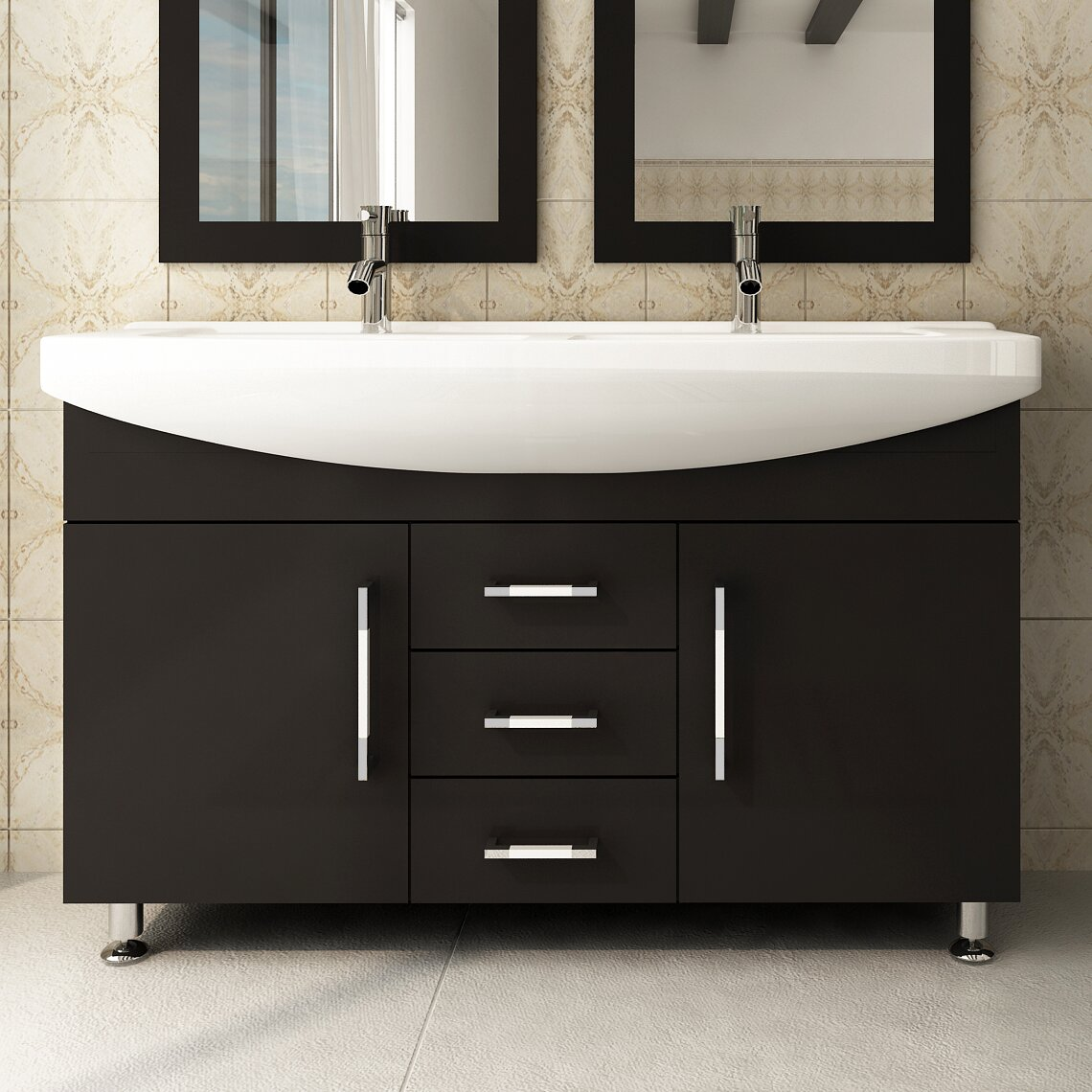 Double bathroom vanity - Celine 48 Double Bathroom Vanity Set