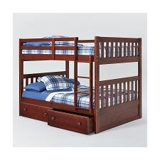 Mission Full Over Full Bunk Bed with Under Storage by Chelsea Home