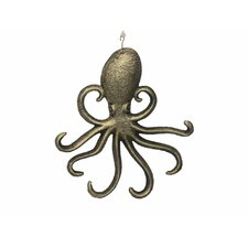 7 Cast Iron Wall Mounted Octopus Hook by Handcrafted Nautical Decor