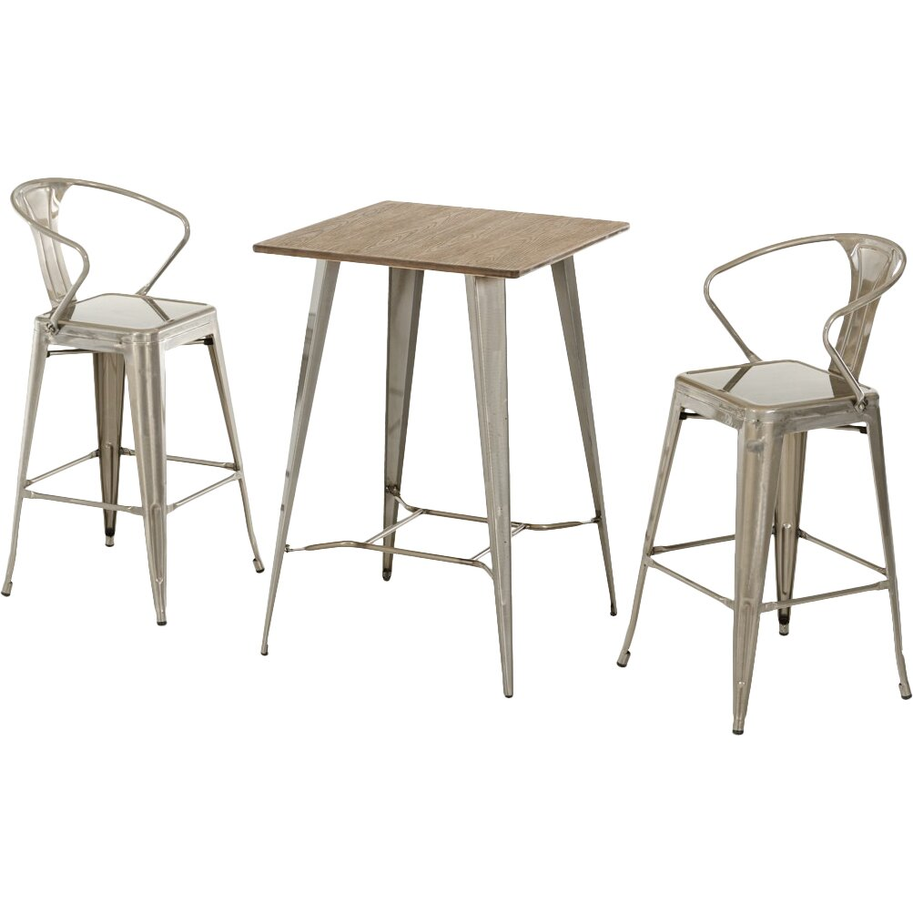 17 stories ashleigh 3 piece pub table set reviews for Ashleigh dining set
