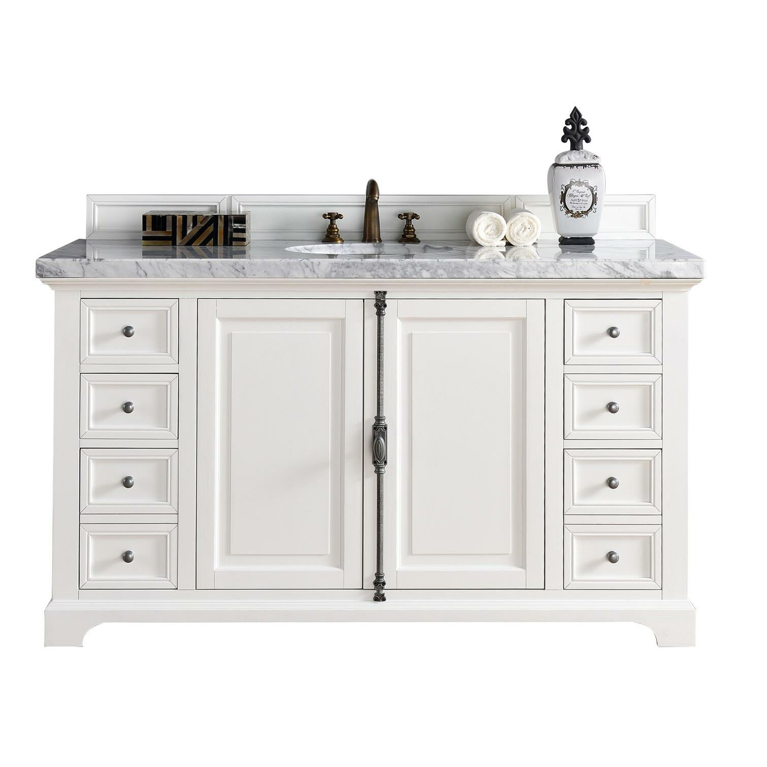 James martin furniture providence 60 single cottage white - Wayfair furniture bathroom vanities ...