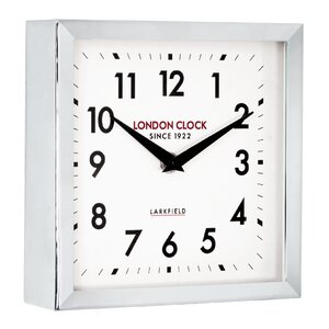 Station Locomotive Square Small Wall Clock