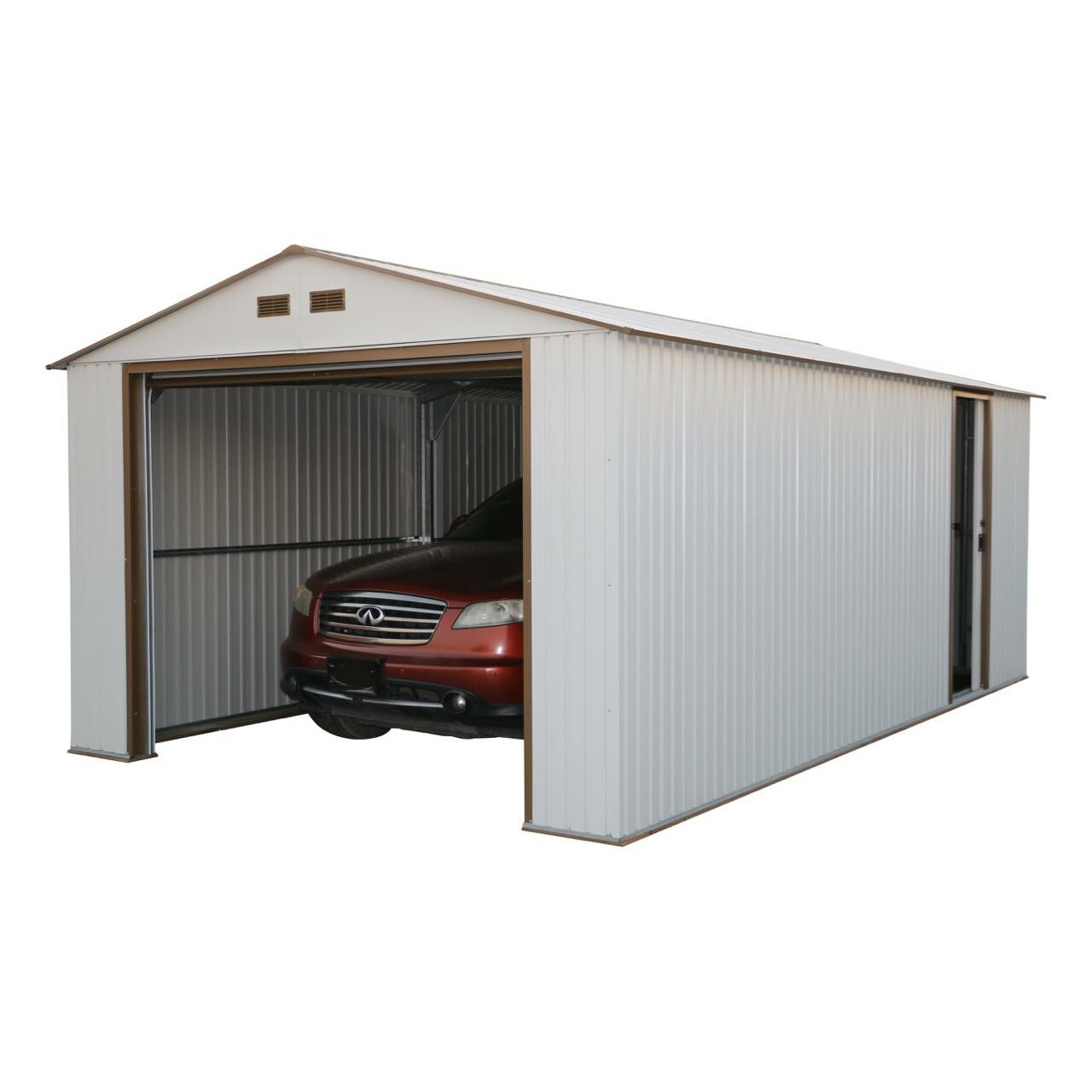 10 20 Garage Shed : Duramax imperial ft w d metal garage shed